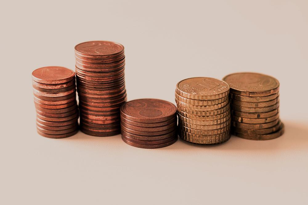 Wat kun je doen met een cashflowoverzicht - stapels met munten